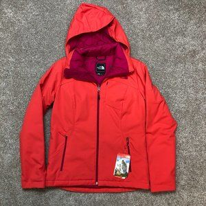 The North Face Women Apex Elevation Hooded Coat Jacket Pink Orange Small